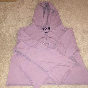 🌸Purple crop top sweatshirt
